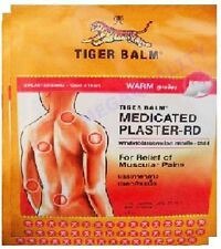 BIG SIZE TIGER BALM PATCH PLASTER WARM MEDICATED PAIN RELIEF 4 pcs.(10x14 cm.)