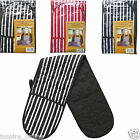 NEW DOUBLE COTTON INSULATED PADDED THICK COOKING KITCHEN SET OVEN MITTS GLOVES