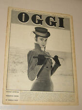 OGGI=1956/11= AUDREY HEPBURN COVER MAGAZINE WAR AND PEACE FILM MOVIE=