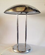 Chrome Lamp  - Atomic Style Chrome Lamp - Saucer Lamp - Silver Mushroom Lamp