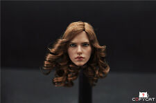 Newest In Stock 1/6 Custom Black Widow 5.0 Head Sculpt For Hot Toys Phicen Body