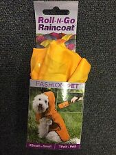 NEW Roll-N-Go Dog/Pet Raincoat Yellow, XS/S - FREE SHIPPING