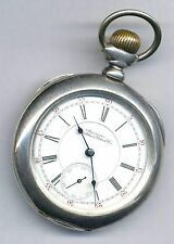 18s 1892 model 17j Waltham Vanguard Pocket Watch 1st run 4 oz. Sterling Silver