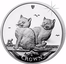 2003 Isle of Man Balinese Cat Coin 1 oz Silver Proof with Box & Coa