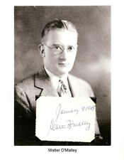 Walter O'Malley Autograph Owner President Brooklyn Los Angeles Dodgers Polo #1