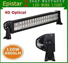 22INCH 120W LED WORK LIGHT BAR SPOT FLOOD TRUCK SUV OFFROAD 4D OPTICALS 12V 24V