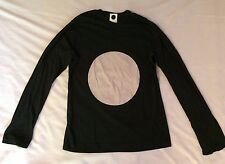 COMING SOON by Yohji Yamamoto Mens Black Long Sleeve T Shirt, NEW
