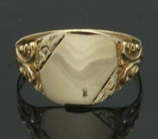 Vintage 9Carat Yellow Gold Signet Ring (Size X 1/2) 12x13mm Head