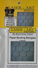 NIB O Branchline Laser-Art #947 Paper Shingles Fish Scale Style 2 Sheets