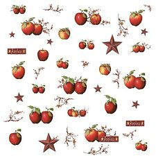 APPLES Wall Stickers Room Decor DeCaLs COUNTRY STARS Rustic Decorations Kitchen