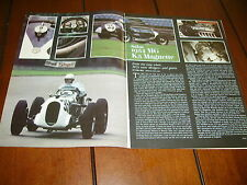 1934 MG K3 MAGNETTE RACE CAR   ***ORIGINAL 1980 ARTICLE***