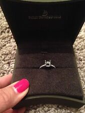 Bailey Banks Biddle Engagement Band Ring Platinum Diamonds Size 3.5 Or 3 1/2