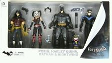 2014 Arkham City: Harley Quinn, Batman, Nightwing, & Robin Action Figure 4-Pack