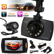 "6IR Lens1080P 2.7""HD Dual-Kameras Vehicle DVR  Auto kamera  Dashcam Car Video DE"