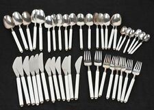 ROSENTHAL 43PC. STERLING SILVER &WHITE PORCELAIN SILVERWARE BY HANSEN & GUMP