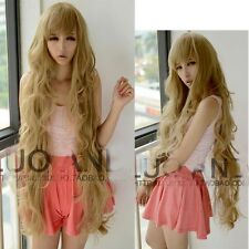 Sexy Girl Fashion Wig Long Wavy Curly Hair Lolita Blonde Full Wigs Cosplay Party