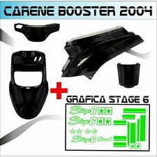 KIT FAIRING BLACK  MBK BOOSTER BW'S FROM 2004 + STICKER STAGE 6 ADESIVI VERDE