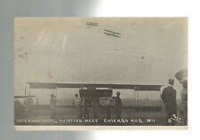 1911 Chicago IL USA Aviation Meet Real Picture Postcard Cover Ohio martin Roth