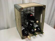 Vtg Heavy Wood Metal Milk Crate, Wine Rack,  Rare Lostens Dairy Elkton Md.