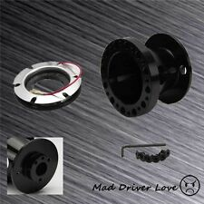 BLACK STEERING WHEEL HUB ADAPTER CNC ALUM. FOR 98-02 HONDA CIVIC 98-02 ACCORD