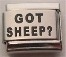 LASER ITALIAN CHARM GOT SHEEP? HERDING DOG PUPPY PET 9MM CLASSIC BRACELET RARE