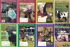 Dairy Goat Journal Magazine Lot of 6 and The Goat Magazine Lot of 2 Farm Animals