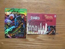 WIZARD MAGAZINE CHROMIUM STORMWATCH PROMO CARD # 4 SIGNED CREATOR JIM LEE, POA