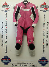 Arlen Ness 5908 Ladies One Piece Motorcycle Race Leathers Pink White UK 14-16