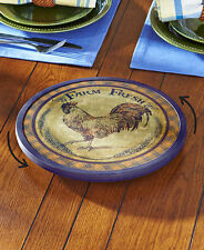 Primitive Farmyard Rooster Revolving Lazy Susan French Country Lazy Susan
