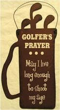 Golfer Prayer Golfing Golf Bag Rustic Plasma Cut Metal Sign Ornament