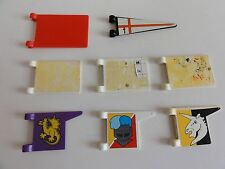 (72) playmobil vintage medieval pieces knight/castle/chateau/ritter/chevalier