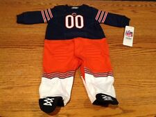 Baby Chicago Bears Team Uniform Footed Sleep & Play Size 0-3 Months NWT