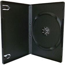 100 X Single CD DVD Blu ray Case Black 14mm Spine HIGH QUALITY