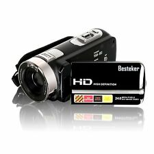 Besteker Full HD1080p Video Camera Camcorder DV IR Night Vision 3'' Touch Screen
