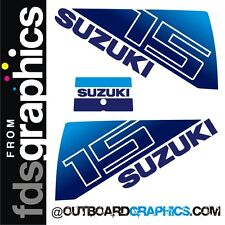 Suzuki DT15hp outboard engine decals/sticker kit