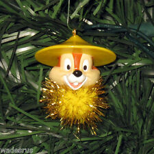 CHIP on Sparkly Ball - Custom Christmas Tree Ornament Holiday Chip Dale Chipmunk