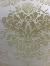 Velvet Suede Beige Damask Wallpaper EXCLUSIVE  RRP£69.99