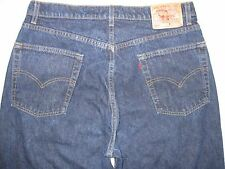 Levi's 568 HARD Straight Button Fly 36 tight X 38 1/2 Split Cuff Men's Jeans
