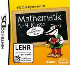 NINTENDO DS 3DS GRUNDSCHULE 1-4 Klasse MATHEMATIK Fit fürs Gymnasium Top Zustand