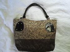 Unbranded Brown  G  purse with faux crocodile straps and trim looks expensive