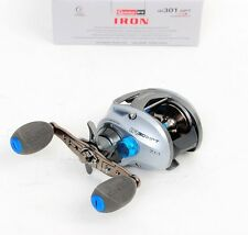 Quantum IR301HPT Iron PT Hi Speed LH Inshore Baitcast Fishing Reel, NEW