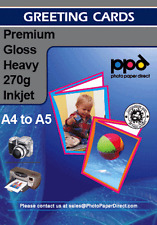 Blank A4 Inkjet Printer Greeting Cards Paper Glossy Premium 270GSM x 20 Sheets