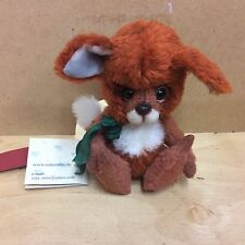 OOAK ARTIST BEAR TOBIAS THE FOX CUB BY NATASTEIN BEARS BNWT REDUCED