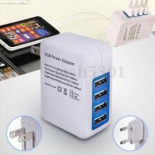 Universal Travel Wall Charger Adapter 4 Ports USB Hub AC Power Supply US Plug