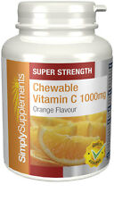 Simply Supplements Chewable Vitamin C 1000mg 120 Tablets (E518)