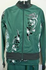 Ed Hardy Green Track Jacket Womens M