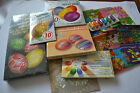 EASTER EGG DECORATING COLOR GELATIN DYE PAINT PEEL OFF STICKER WRAP SLEEVE LOT