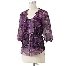 ELLE™ Floral Chiffon Blouse Set - Size L
