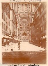 A663 Photographie Originale 1900 Cathedrale de Strasbourg vintage photography