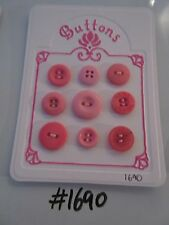 #1690 Lot of 9 Pink Buttons